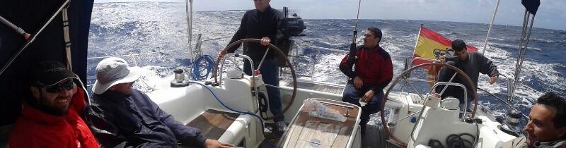 Disfrutando del barco