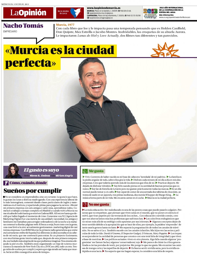 Nacho Tomás - La Opinión
