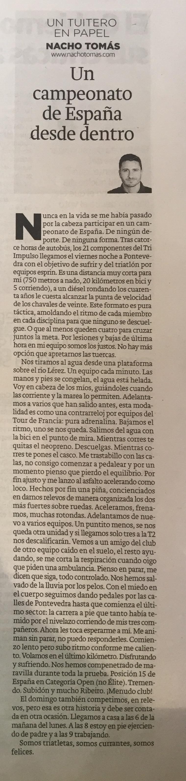 Un Campeonato de España desde dentro.