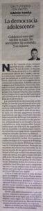 29.06.16 La democracia adolescente - Nacho Tomás - Un tuitero en papel - La Verdad de Murcia