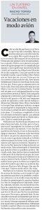 10.08.16 Vacaciones en modo avión - Nacho Tomás - Un tuitero en papel - La Verdad de Murcia