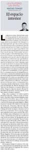 17.08.16 El espacio interior - Nacho Tomás - Un tuitero en papel - La Verdad de Murcia