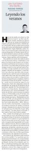 31.08.16 Leyendo los veranos  - Nacho Tomás - Un tuitero en papel - La Verdad de Murcia